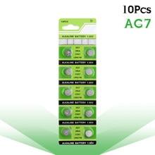 Baterias alcalinas ag7 399b s28 sr927sw 395a lr927 lr57 sr57 relógio câmeras bateria ycdc 10 pces ag7 pilha botão da moeda 1.55v