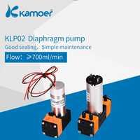 Bomba de agua/líquido de diafragma Kamoer KLP02 12 V/24 V con motor de cepillo y doble cabezal