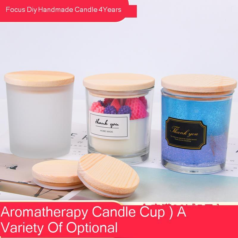 Diy Candle Cup Manual Wax Container Candle Glass Glass Candle Cup Candlestick Aromatherapy Candle candles jars happy birthday|Candles|   - AliExpress