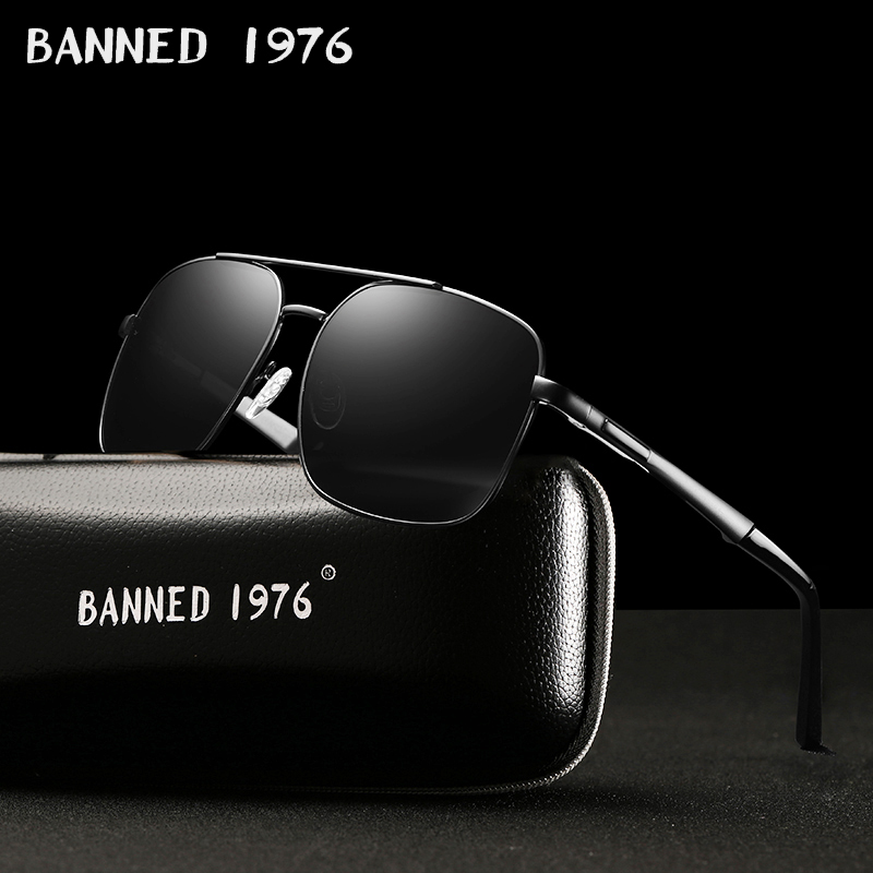 2019 BANNED 1976 Fashion Polarized Sunglasses Men Luxury Brand Designer Vintage Driving Sun Glasses Male Goggles Shadow UV400 image