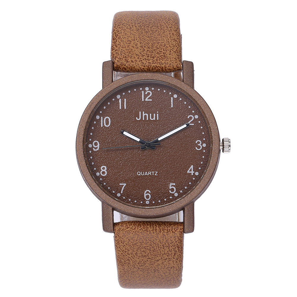 Quartz watch women JHUI Women's Casual geneva watch Leather Band Newv Strap Watch Analog Wrist Watch montre femme reloj mujer