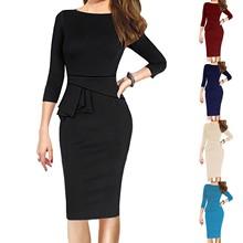 Suit Jacket Office-Wear 2pieces-Set Women's New Winter Dresses Bodycon Female Autumn