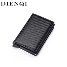 Black Metal Anti Rfid Wallet Credit id Card Holder Men Women Business Cardholder Cash Card Pocket Case Passes creditcard holder(China)