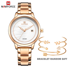 NAVIFORCE Rose Gold Watches For Women Quartz Wrist watch