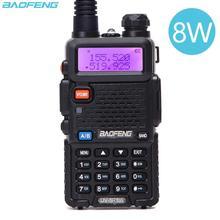 Baofeng uv 5R 8ワット双方向ラジオリアル8ワット10キロ128CHデュアルバンドvhf (136 174mhz) uhf (400 520mhz) アマチュアアマチュア無線ポータブルトランシーバー