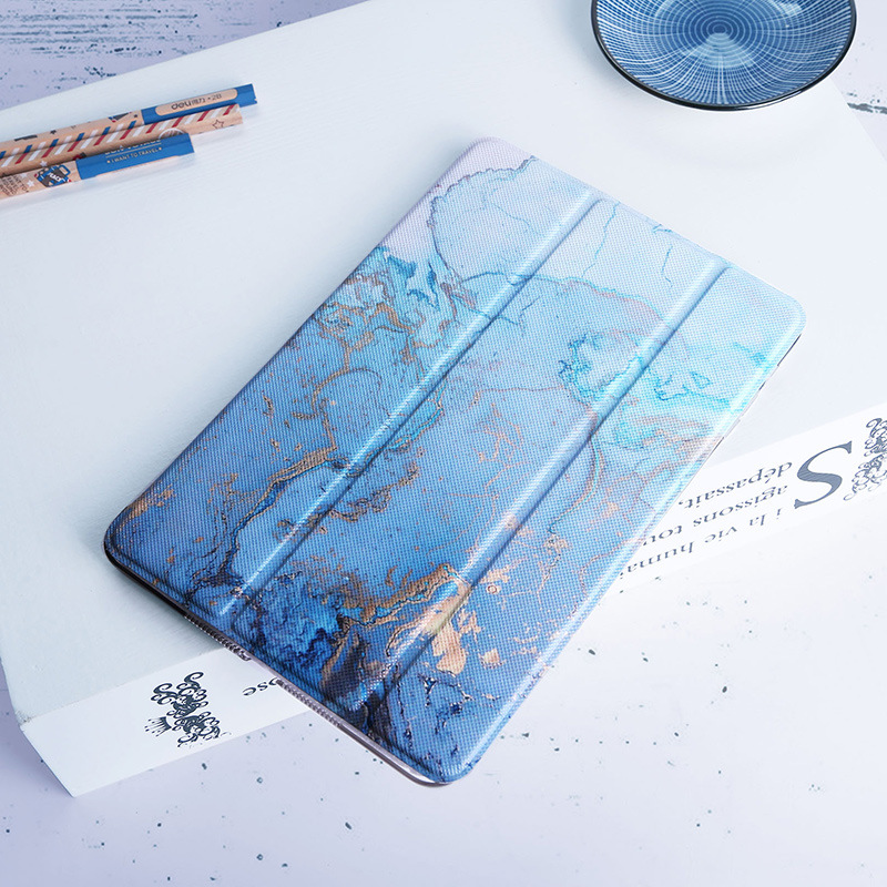 Translucent Watercolor Map Painted Smart Cover For IPad Mini 5 Artistic Inspirition Stand Case Coque For IPad Mini 1 2 3 4 Para