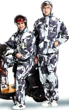 Waterproof Nylon Raincoat Jacket Set Travel Hiking Plastic Raincoat Survival Outdoor Thick Regenjacke Rain Coat Set JJ60YY