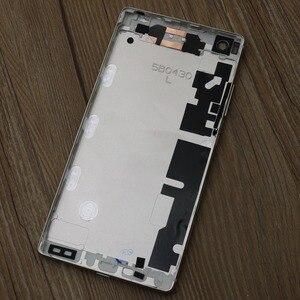 Image 5 - الأصلي الألومنيوم الإسكان غطاء لهواوي P8 5.2 بوصة ، الباب الخلفي الخلفي غطاء البطارية الحال مع استبدال أجزاء