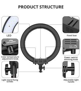 Image 3 - TravorแหวนRL 18A BiColorโคมไฟที่สามารถหรี่แสงได้การถ่ายภาพRinglightหลอดไฟขาตั้งกล้องสำหรับYouTubeแต่งหน้าSelfie Light