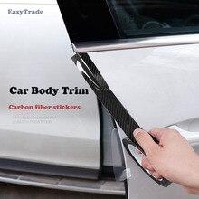 Car Body Trim Carbon Fiber on Car Stickers Door Bumper Trunk Decoration Accessories Fit For Hyundai Solaris ACCENT 2010-2019 цена 2017