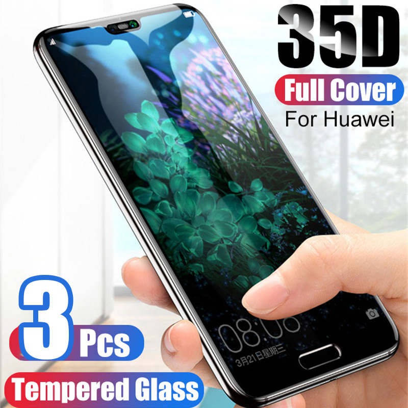 3-1Pcs Protective Glass For Huawei P20 P30 P10 Lite Pro Screen Protector For Huawei Mate20 Lite Pro Tempered  Glass For P Smart