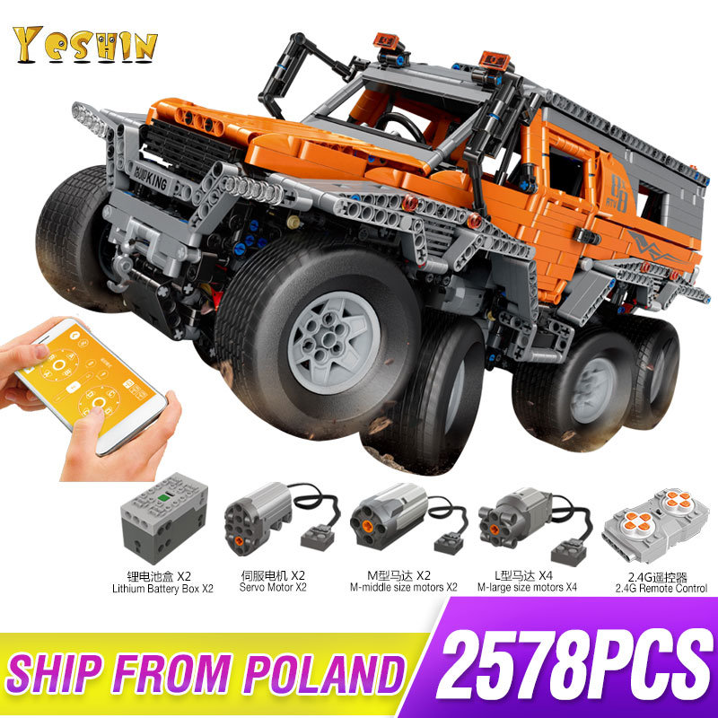 Avtoros Shaman 8x8 Siberia SuperCar Technic Series Off road remote control Vehicle Lepinbricks Model Building Block Bricks 5360|Blocks| |  - title=