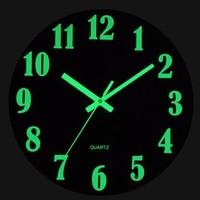 Деревянные Светящиеся Настенные часы Бесшумный Винтаж Светящиеся в темноте настенные часы цифровые деревянные часы для Кухня Декор в гост...