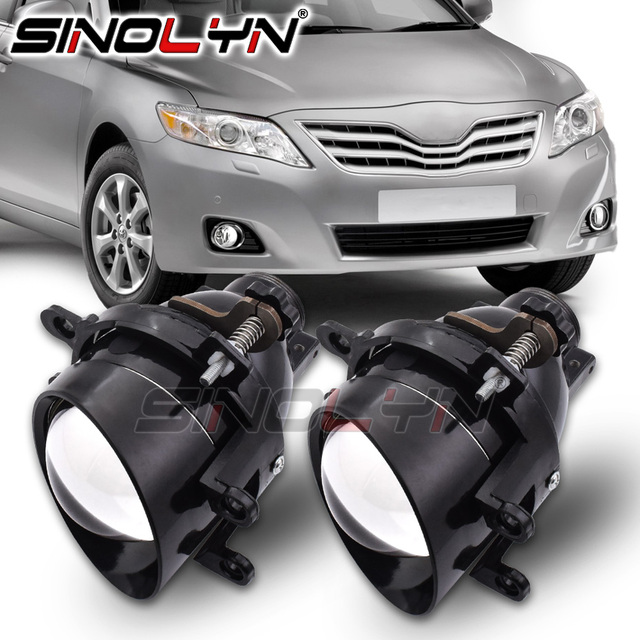 Sinolyn Fog Lights For Toyota Camry/Corolla/RAV4/Yaris/Auris/Highlander Bi xenon Projector Lens H11 D2H HID Bulb Accessories DIY