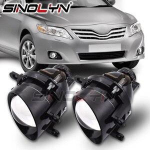 Image 1 - Sinolyn światła przeciwmgielne dla Toyota Camry/Corolla/RAV4/Yaris/Auris/Highlander Bi reflektor ksenonowy obiektyw H11 D2H ukryta żarówka akcesoria DIY