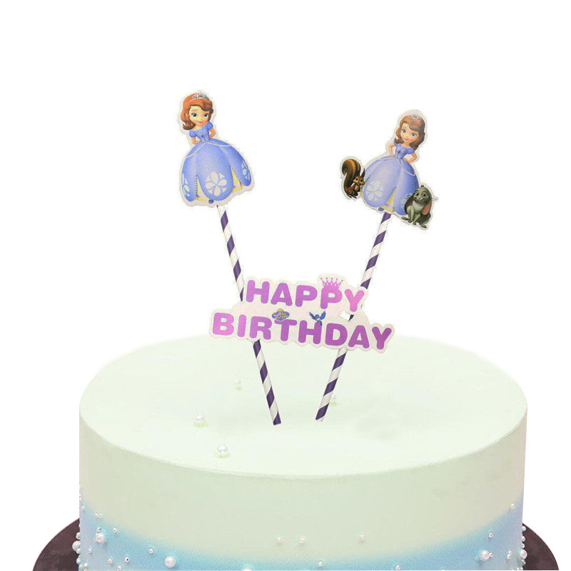 Magnificent 1Set Lot Sofia Princess Theme Cake Topper For Kids Girls Birthday Personalised Birthday Cards Akebfashionlily Jamesorg