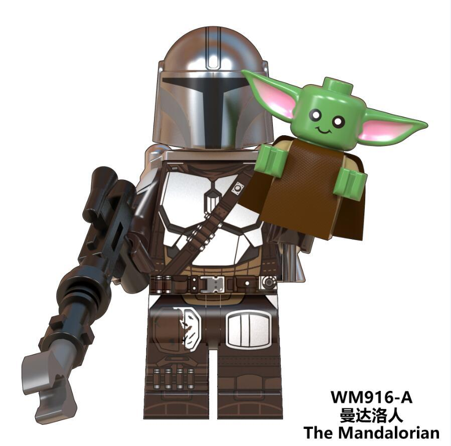 Star Wars Figures Baby Yoda The Mandalorian Warrior Knights Of Ren Sith Trooper Robot Darth Vader Starwars Building Blocks Toys