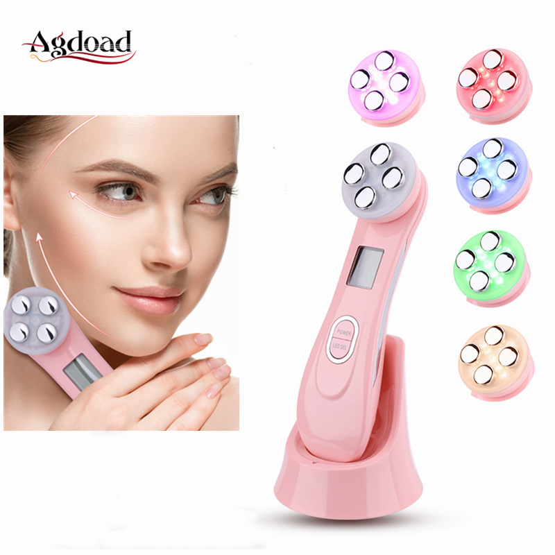 5 In 1 Skin Tightening Beauty RF Radio Frequency Skin Rejuvenation Device Face Lifting Anti Aging Wrinkles LED Photon Skin Care