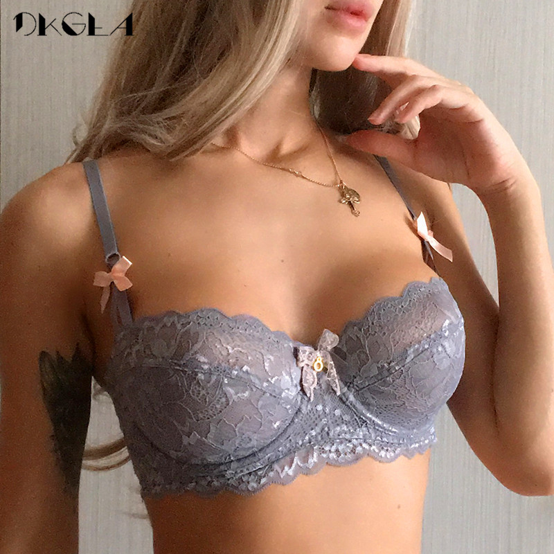 New Top Sexy Bra Plus Size Lace Underwear Ultrathin Transparent Brassiere A B C D Cup White Bras Embroidery Women Lingerie Black 1
