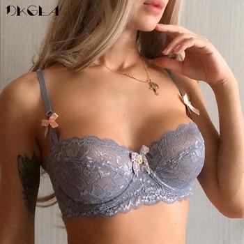 New Top Sexy Bra Plus Size Lace Underwear Ultrathin Transparent Brassiere A B C D Cup White Bras Embroidery Women Lingerie Black 1