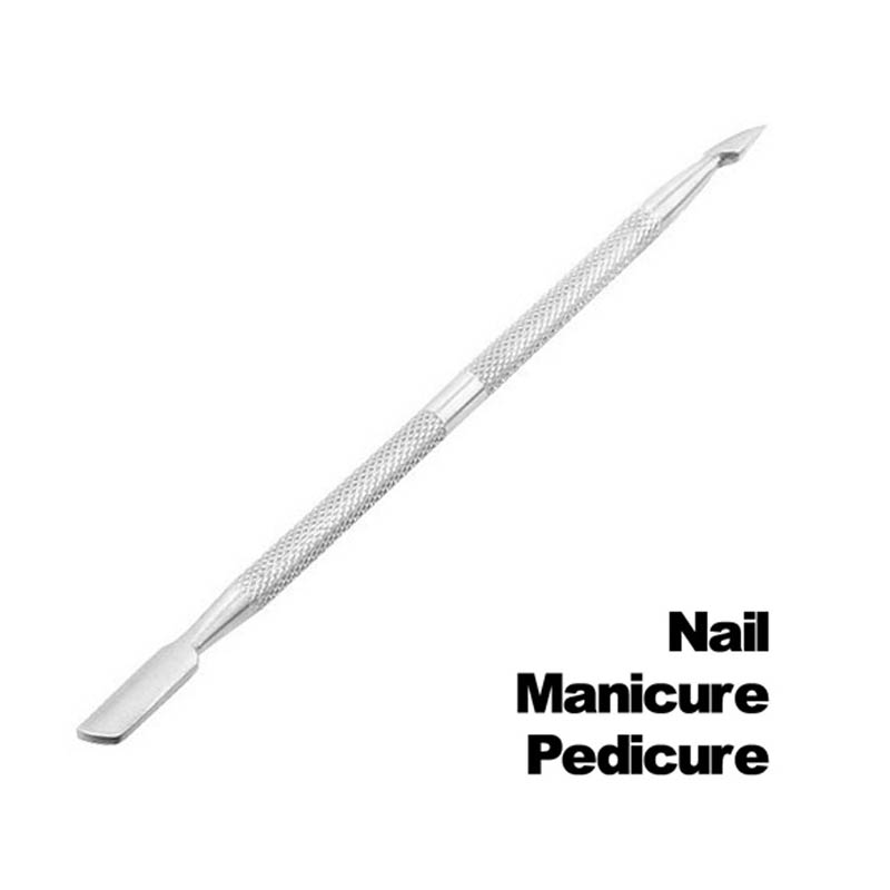 Cuticle Nail Pusher Remover Manicure Pedicure Trimmer Tools Nail File  V9-Drop