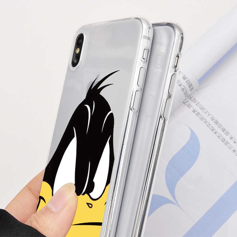 Bugs Bunny Tweety Bird Trường Hợp Silicone Mềm Lưng Điện Thoại Di Động Dành Cho iPhone 11 X R S Max Pro 8 7 6 S Plus 5 SE Coque