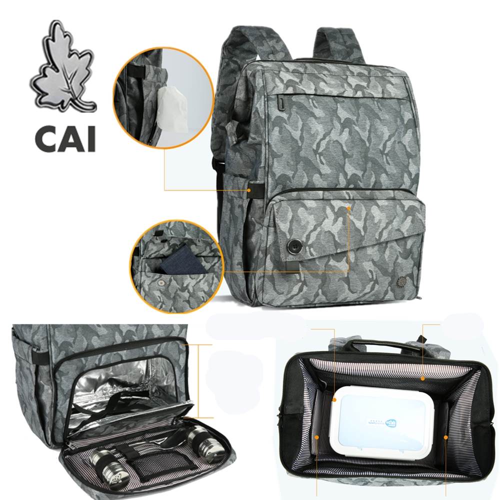 CAI Functional Picnic Lunch Bags Military Travel Heat Insulation High Capacity Camouflage Food Dinner Bag For Women Men