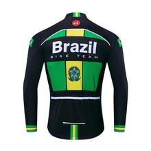 2020 Велоспорт-Джерси мужчины велосипед Джерси с длинным рукавом дорога MTB велосипедов одежда Майо гоночный топы футболки Испания Бразилия зеленый осень