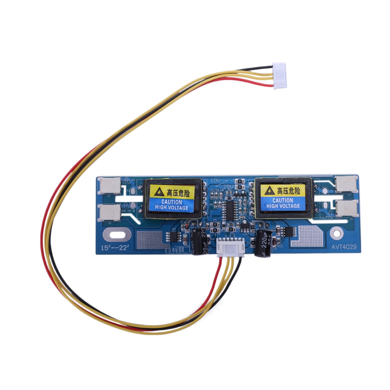 Avt4029 Universal Inverter Replacement Ccfl Inverter Lcd Monitor 4 Lamp 10-29V For 15-22 Inch Wide Screen With 6pin Cable