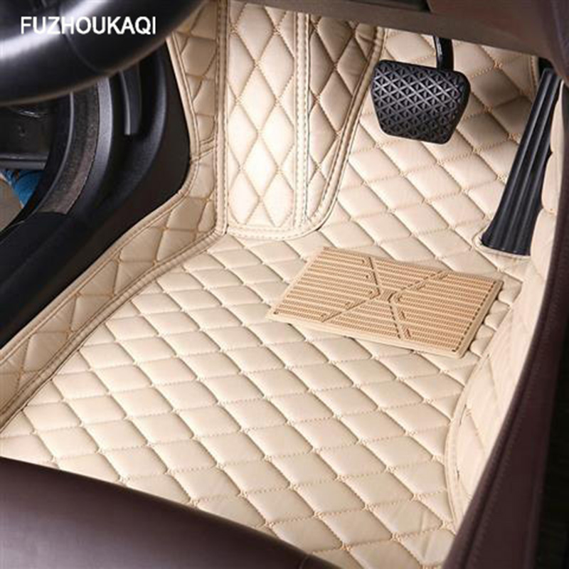 Leather car <font><b>floor</b></font> <font><b>mats</b></font> for <font><b>BMW</b></font> <font><b>e30</b></font> e34 e36 e39 e46 e60 e90 f10 f30 x1 x3 x4 x5 x6 1/2/3/4/5/6/7 car accessories styling Custom image