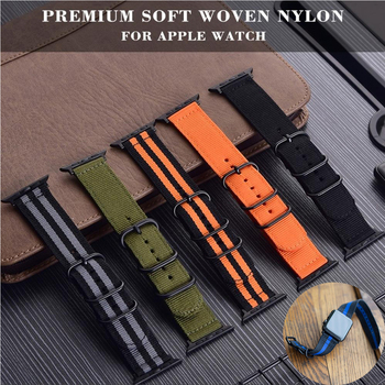 crested sport nylon band for apple watch 3 42mm 38 mm wove nylon watch strap for iwatch series 3 2 1 wrist bracelet watch band Sport Nylon Fabric watch band for apple watch 38mm 42mm strap soft watch loop for iwatch 5 4 3 2 1 watchband for iwatch bracelet
