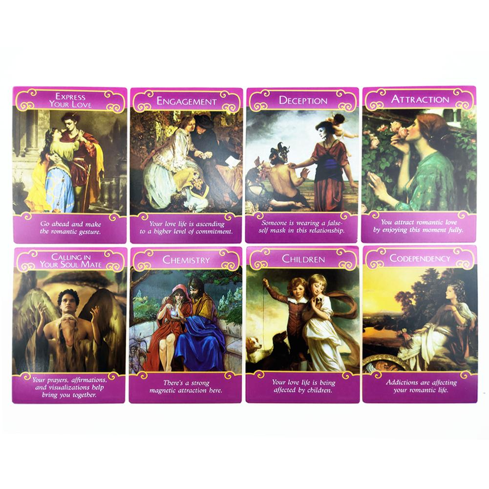 Romance Angels oracle cards deck mysterious tarot cards guidance card game