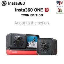 كاميرا عمل Insta360 ONE R 360 ، مع تثبيت تدفق ، 5.7K فيديو في الوقت الحقيقي واي فاي نقل عمل الكاميرا Insta360 ONE X