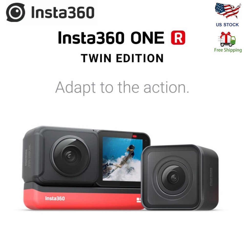 Insta360 ONE R 360 Action Camera,with Flowstate Stabilization,5.7K Video Real Time WiFi Transfer Action Camera Insta360 ONE X image