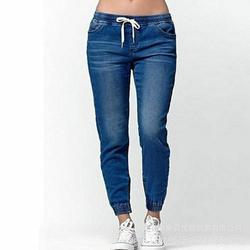 Calças Basculador casuais 2020 Elastic Sexy Skinny Lápis calças de Ganga Para Mulheres Leggings de Jeans de Cintura Alta Denim Calças de Cordão das Mulheres