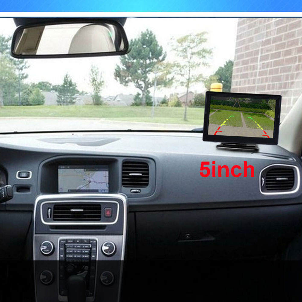 """5 Inch or 4.3 inch Car Monitor TFT LCD 5"""" HD Digital 16:9 800*480 Screen 2 Way Video Input For Reverse Rear View Camera DVD VCD 4"""