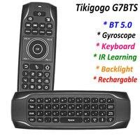 G7BTS Bluetooth-kompatibel BT 5,0 Gyroskop air maus mini tastatur hintergrundbeleuchtung für android smart tv box PC fernbedienung