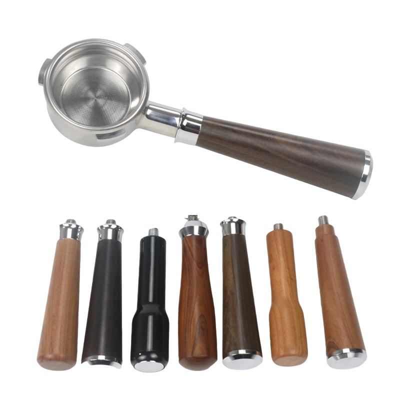 Портативный фильтр 58 мм с 3 ушками для кофемашины Barsetto, держатель из нержавеющей стали с деревянной ручкой, аксессуар