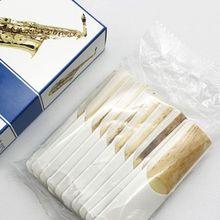 10pcs/set Alto/Soprano/Tenor Saxophone Reeds Strength 2.5 Bb Clarinet Reed original france vandoren bass clarinet traditional reeds cr1225 cr123 strength 2 5 3 0 box of 5 [free shipping]