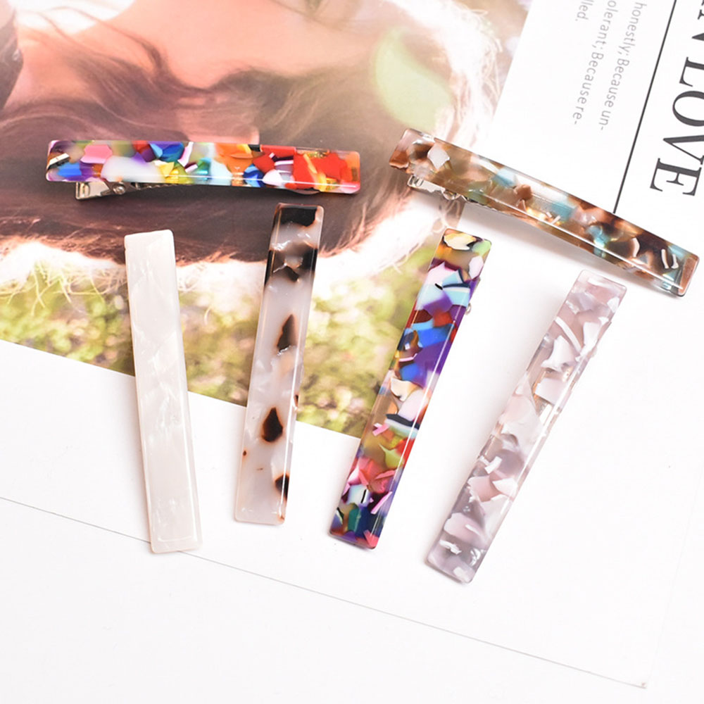 1PCS Fashion Women's Crystal Hair Clips Pins Claws Acrylic Gilrs Barrettes Accessories Hairpin Hair Styling Tools