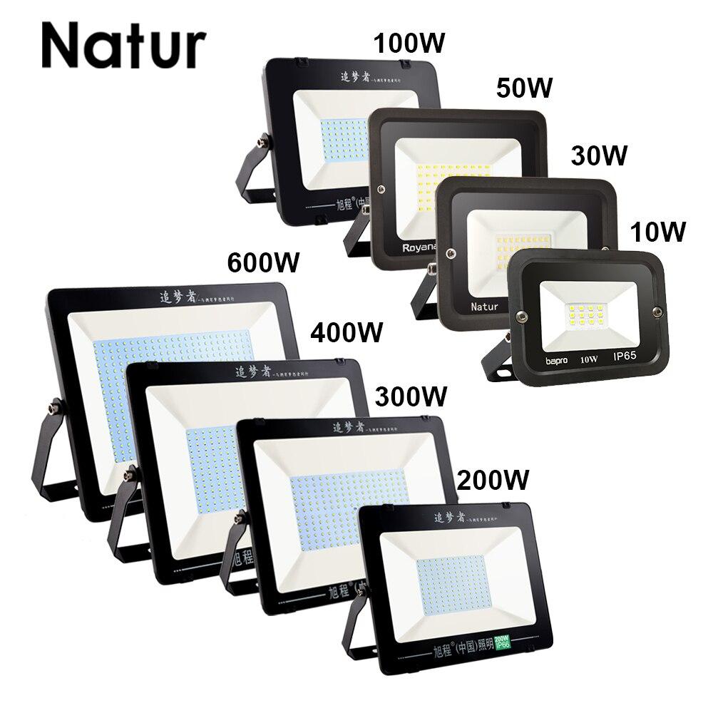 Ultra ince 10W 30W 50W 100W 200W 300W 400W 600W LED projektör 220V projektör spot IP66 su geçirmez açık bahçe lambası
