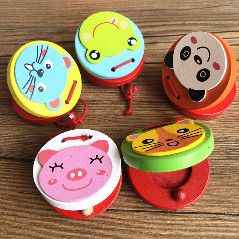 Instrument Wood Wooden Set Children Castanets Yuan Wu Ban Infants Baby Music Mainland China Beat Wood