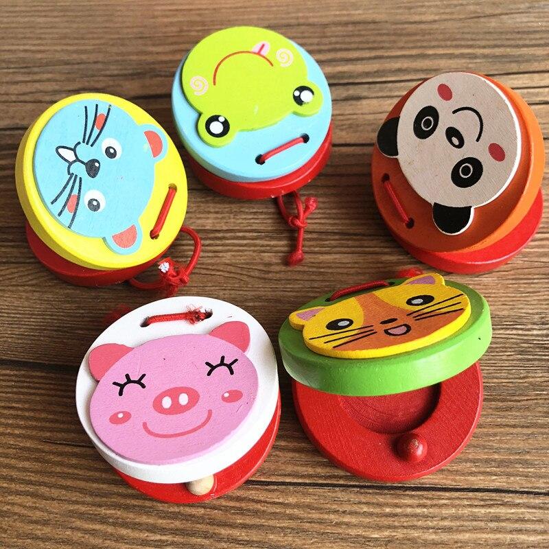 Instrument Wood Wooden Set Children Castanets Yuan Wu Ban Infants Baby Music Mainland China Beat Wood