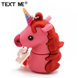 Image 5 - Wyślij mi 64GB cute cartoon styl jednorożca pamięć usb 2.0 4GB 8GB 16GB 32GB pendrive na prezent usb