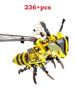 Image 3 - Ewellsold Simulated insect Bee Dragonfly Building Blocks CompatibleTechnic animals city Bricks Educational Toys for Children