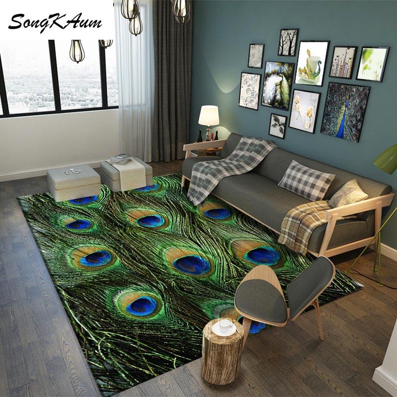 SongKAum креативные перьевые большие ковры европейские Простые Нескользящие татами настраиваемые Коврики для спальни домашний ковер для комн...
