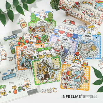 Cute Weather Announcer Series Journal Decorative Stickers Scrapbooking Stick Label Diary Album Stationery Stickers Accessories
