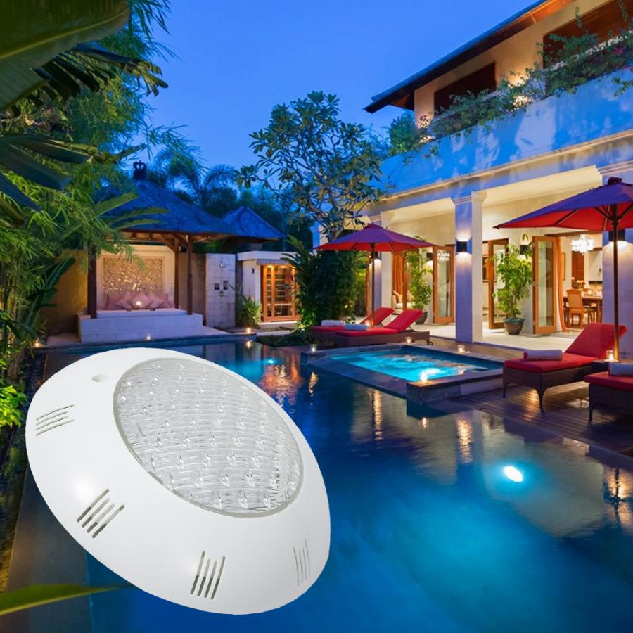 AC12V 15W  LED RGB Underwater Light IP68 Waterproof RGB Swimming Pool Lighting With Remote Controller