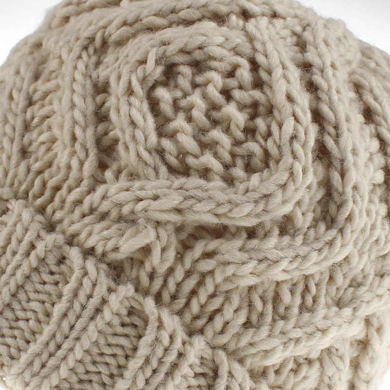 2019 Fashion Knit Beanie Hat Musim Dingin Topi untuk Wanita Czapka Zimowa Gorros Mujer Invierno Topi Hangat Topi Anak Perempuan Muts Czapka zimowa