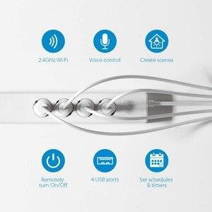 Image 5 - Wifi الذكية قطاع الطاقة 4 منافذ الاتحاد الأوروبي 16A التوصيل المقبس مع USB شحن ميناء ، App التحكم الصوتي العمل بواسطة أليكسا جوجل الرئيسية مساعد